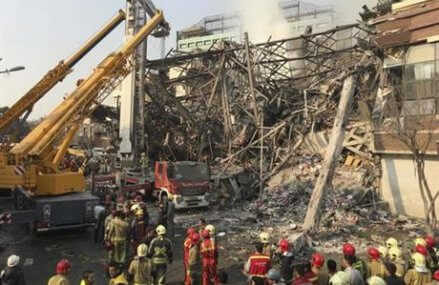 Collapse of burning Tehran high-rise kills 30 firefighters