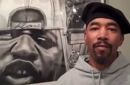 Artist James Pate links Black on Black violence with the KKK