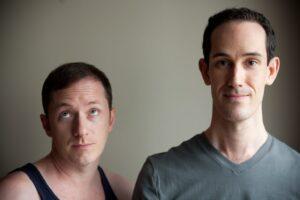 David & Tom in Sisco's play, BAIT (photo: Jonathan Beller (2009)