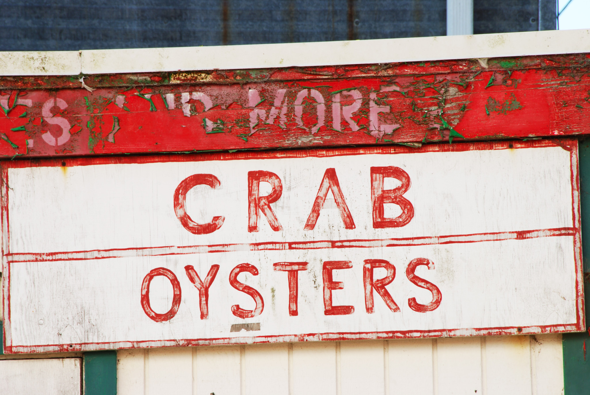 oyster crab sign