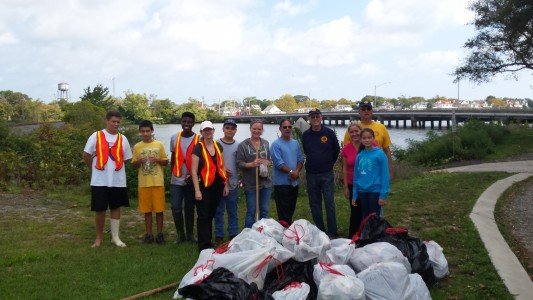 Deal Lake September Cleanup Crew
