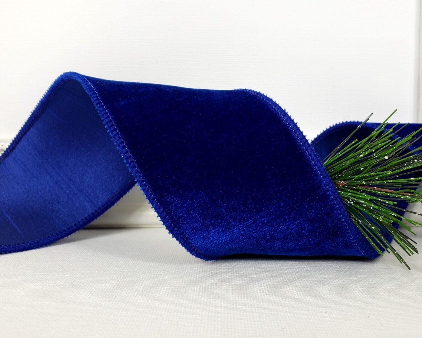 cobalt blue velvet dupioni back ds 40 sapphire-011