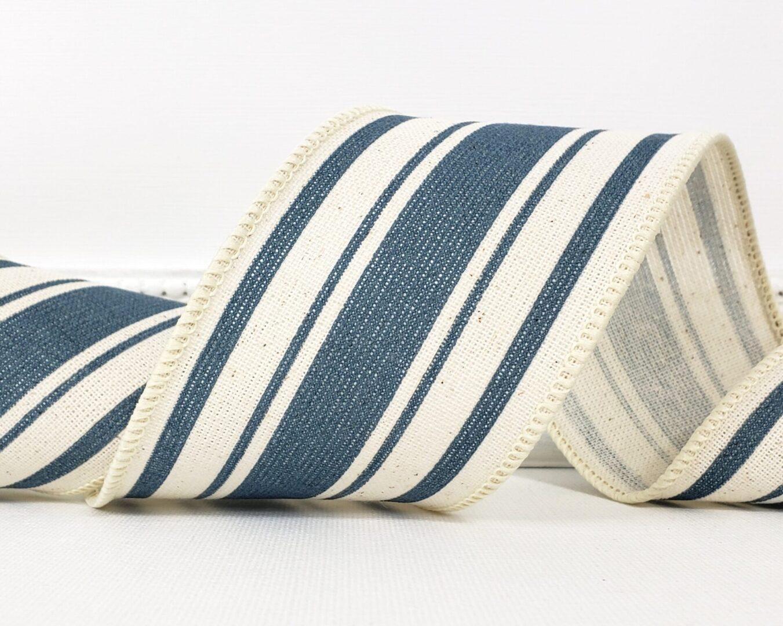 farmhouse ticking stripe blue 40 cb-008