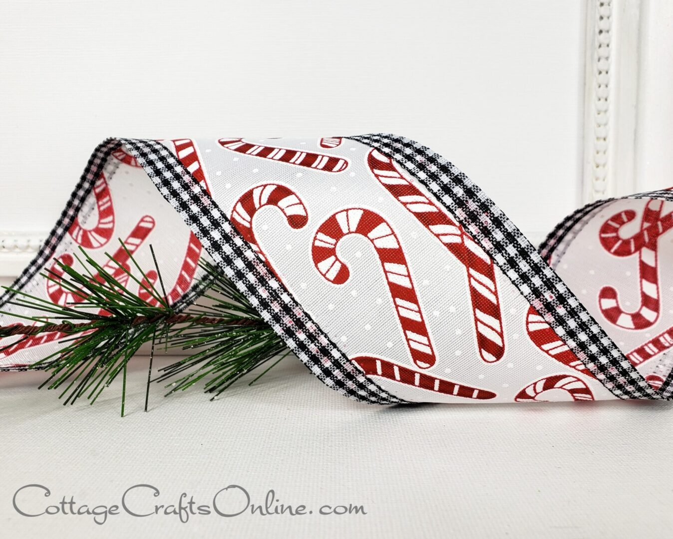 Candy Cane Gingham cb 40 red black white-011