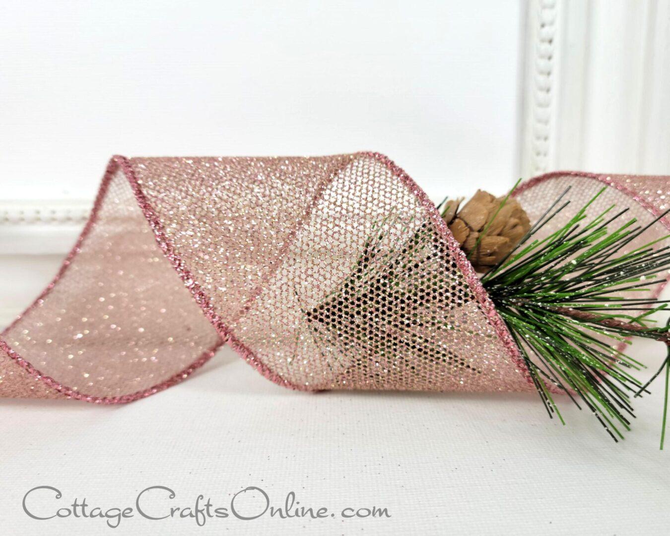 fonda pink gold mesh open weave ol christmas 40-007