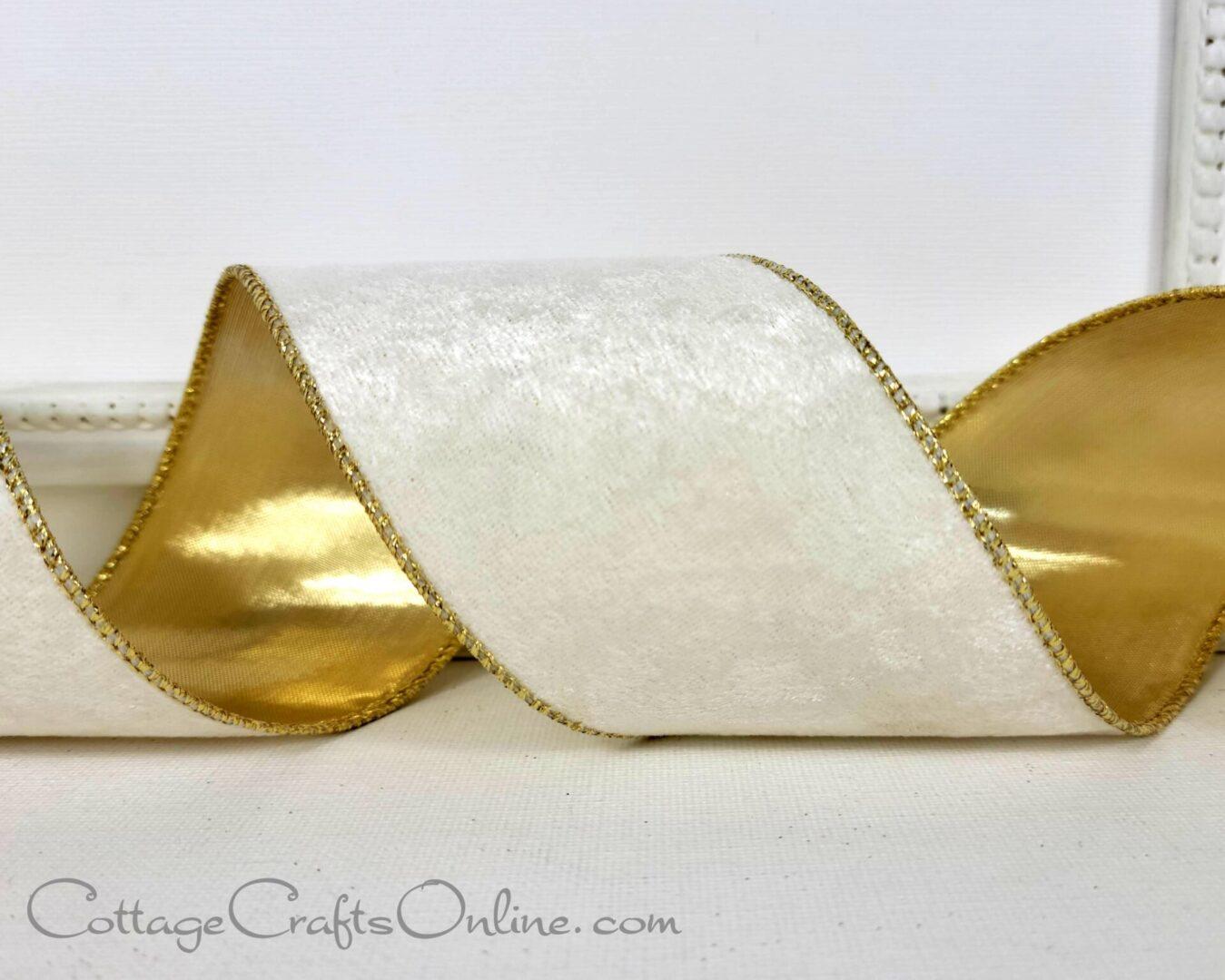 ivory velvet gold lame marlowe ol 40-008