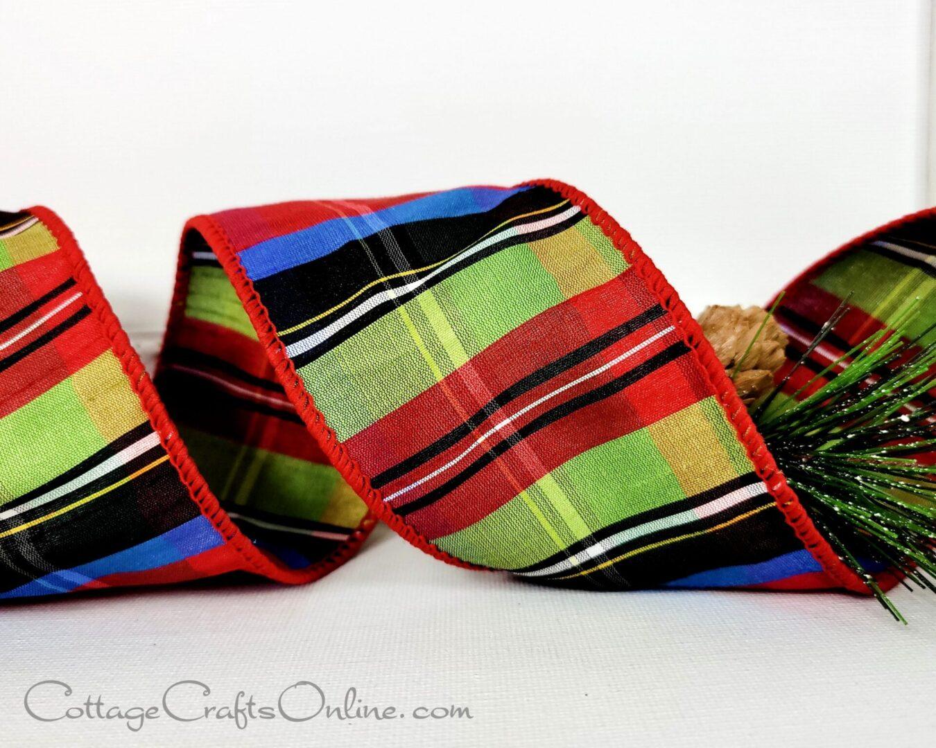nutcracker 40 ds christmas green blue red black plaid tartan 87 0424-012