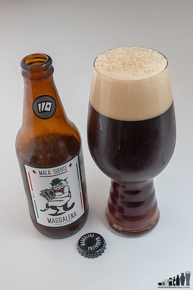 ipa-day: MALA SUERTE; Estilo: Black IPA; Alcohol por Volumen : 9 %