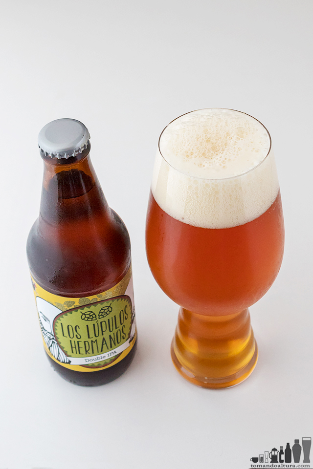 ipa-day: LOS LÚPULOS HERMANOS; Estilo: Double IPA; Alcohol por Volumen : 9,5 %