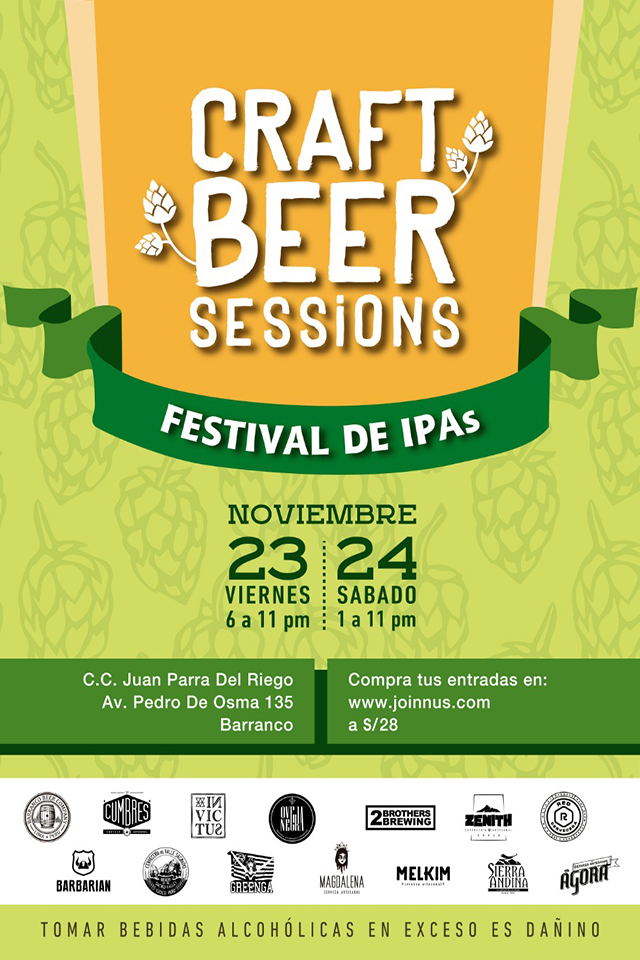 El banner oficial del Craft Beer Sessions: Festival de IPAs.