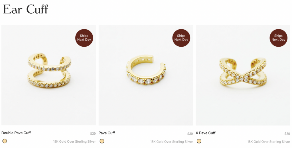 Ear Cuff  EAR CUFF: STACKABLE GOLD AND SILVER EAR CUFFS  Our ear cuffs are come in a simple style that adds to your everyday earring look. Ear cuffs provide an effortless look without a visual end for a sleek touch. Texture and stones add a hint of glam to these classic cuffs.