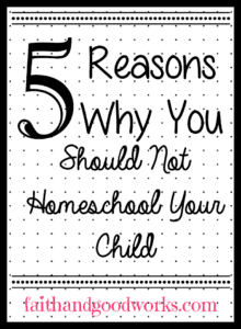 reasons you shouldn't homeschool