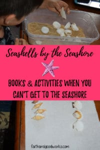 seashells by the seashore books & activities