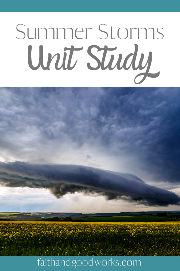 Free summer storms unit study.