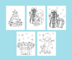 holidays coloring book - christmas pages