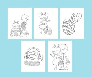 holidays coloring book - easter pages