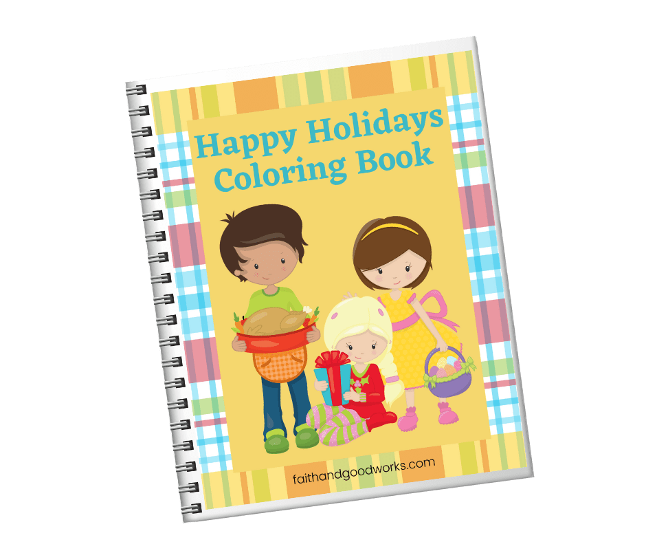 Happy Holidays Coloring Book