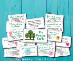 Prayer cards for children.