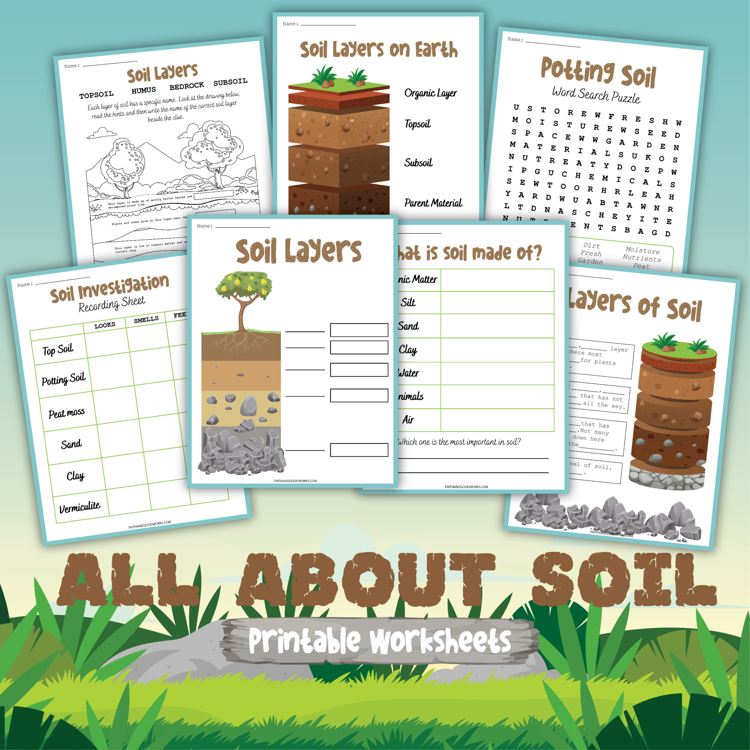 All about soil printable worksheets.