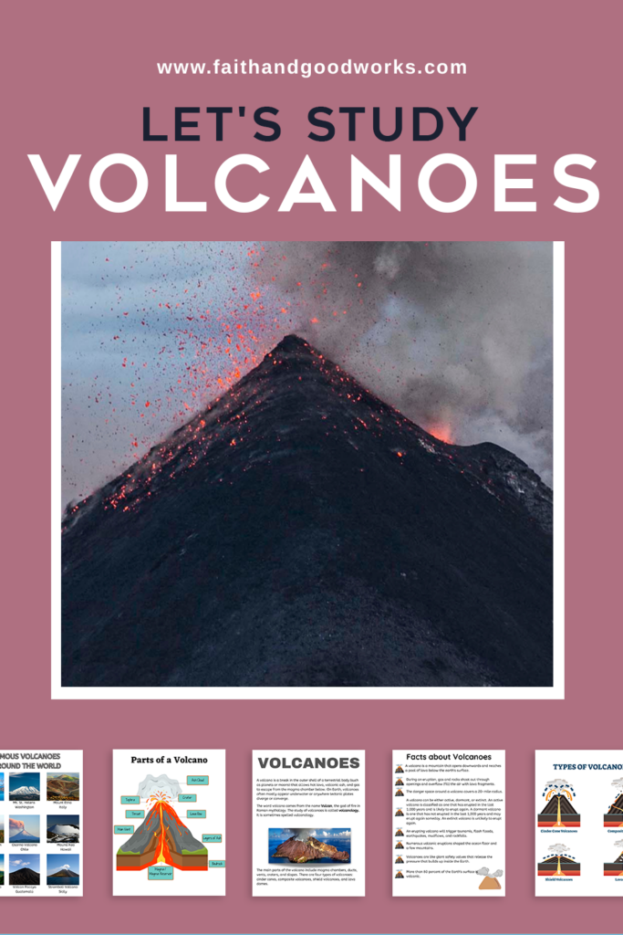 All about volcanoes unit study.