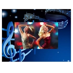 Party Card Frame Music Notes C-105.jpg