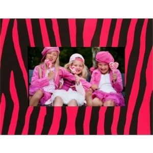 Party Card Frame Pink-Black Zebra C-061.jpg