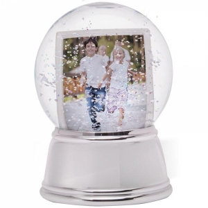 NE Sphere Chrome Base Snow Globe 27493.jpg