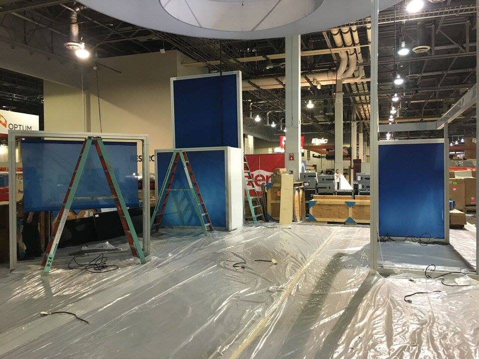 Trade show installs can be beautiful madness.