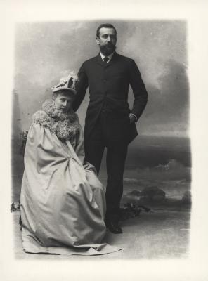 Prince Albert I with Princess Alice in Paris c. 1889 (c) DR-APPM