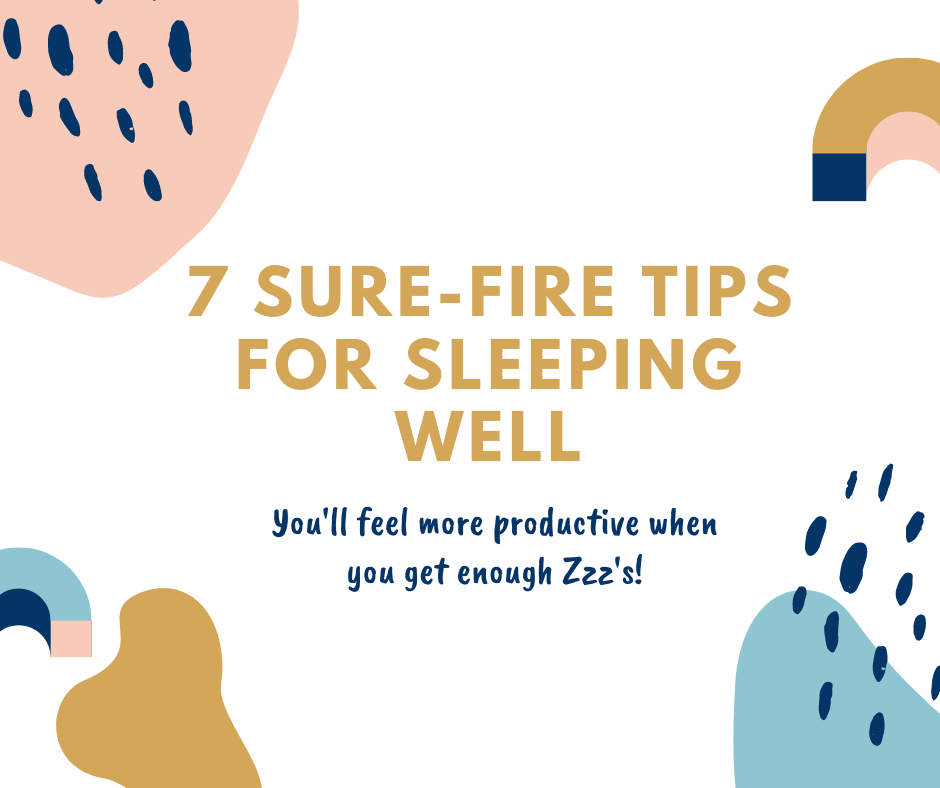 Sure-Fire Tips for Sleeping Well Even When You Have a lot on Your Mind