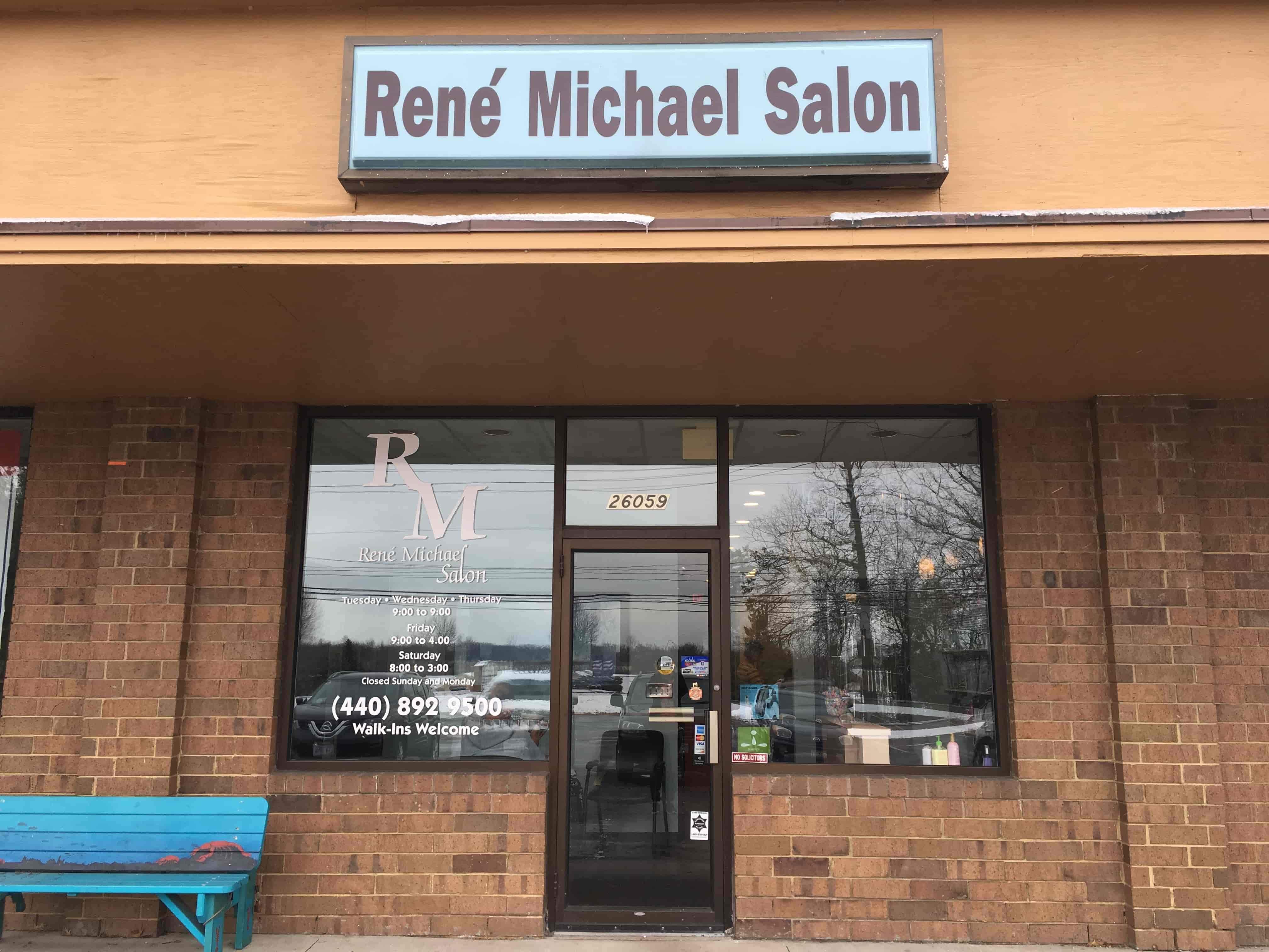 René Michael Salon Storefront