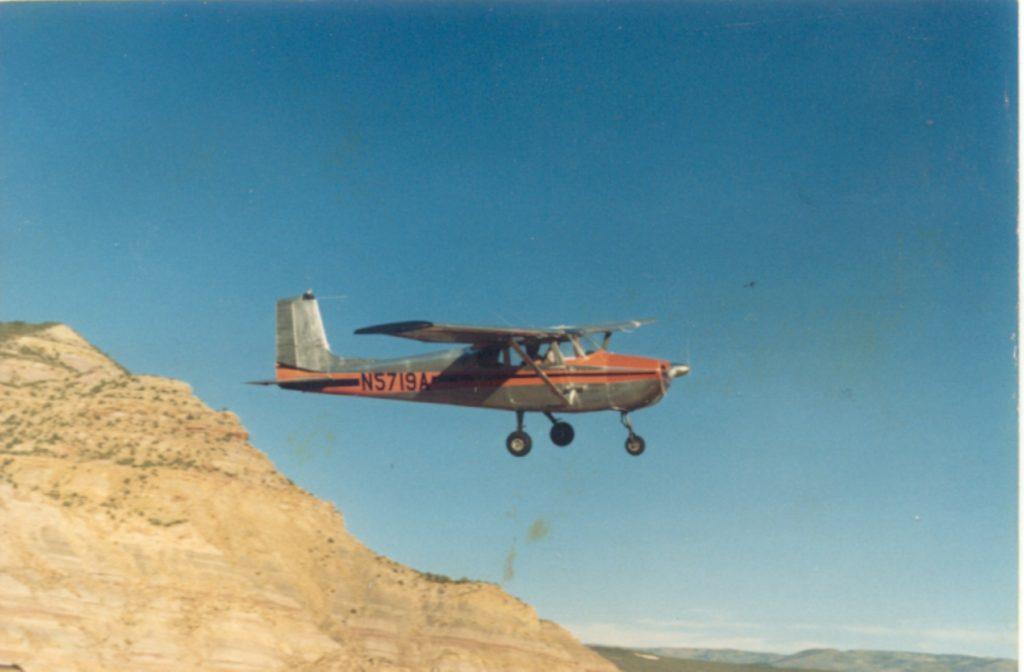 vintage airplane flying