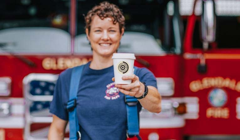 First responders save 50% off all coffee drinks