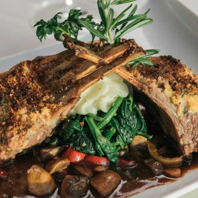 picture of rack of lamb dish