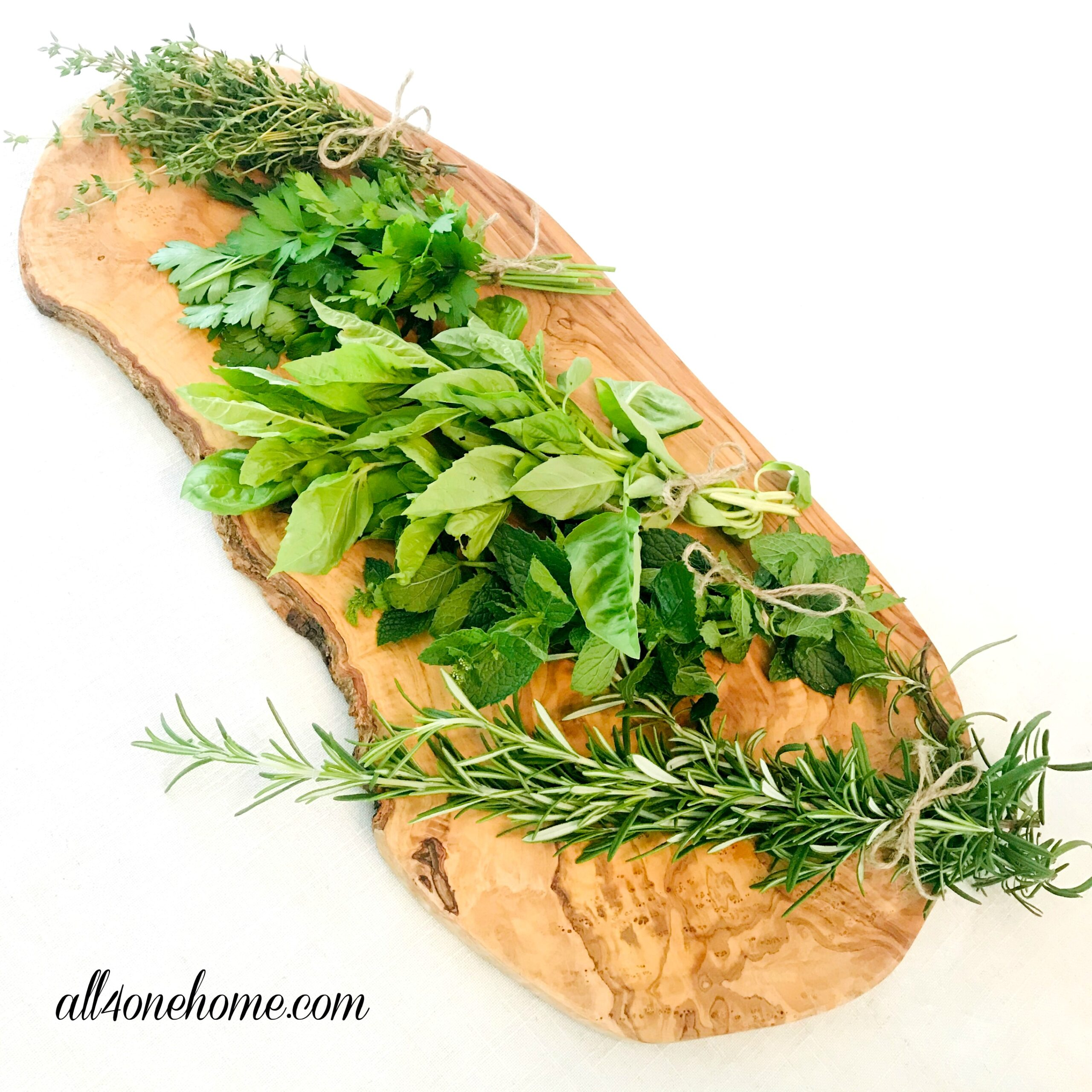 How to air dry herbs