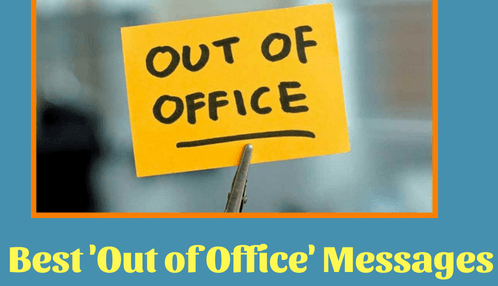 out of office message for vacation
