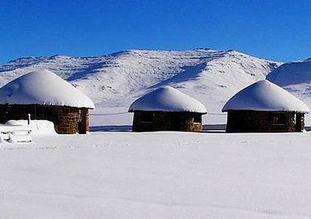 Snow at Lesotho
