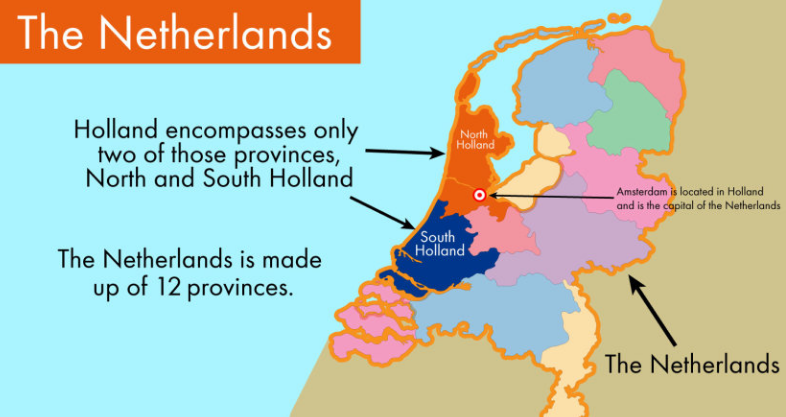 Is Amsterdam in Holland or The Netherlands?