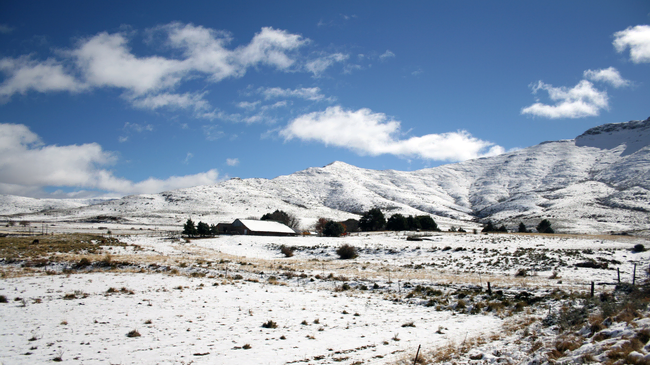 snow in south africa