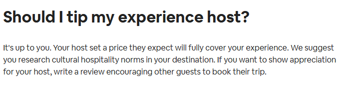 tip for airbnb
