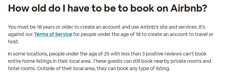 airbnb age limit