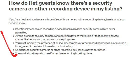 can airbnb have cameras 3