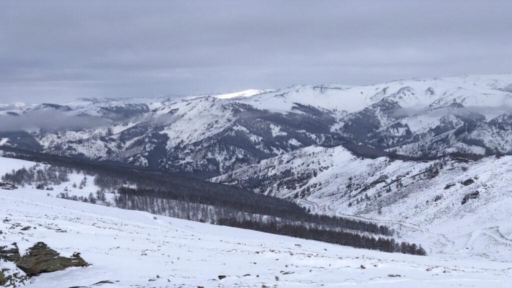 snow in Altay region