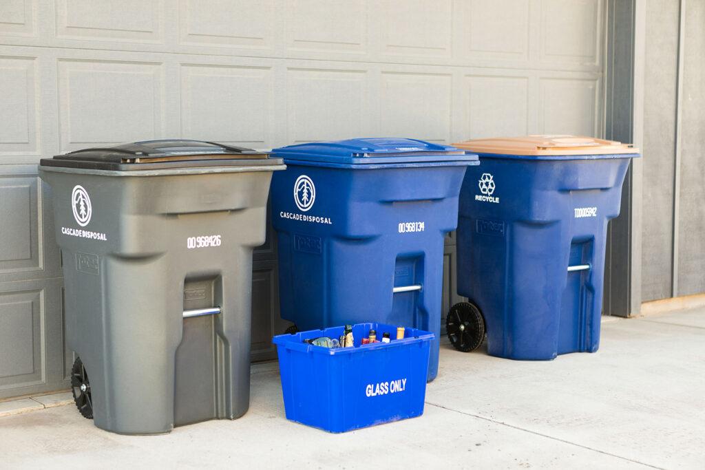 Cascade Disposal recycle bins