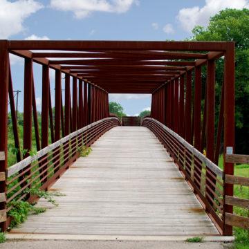 Jane Addams Trail Tuttys Crossing Bridge