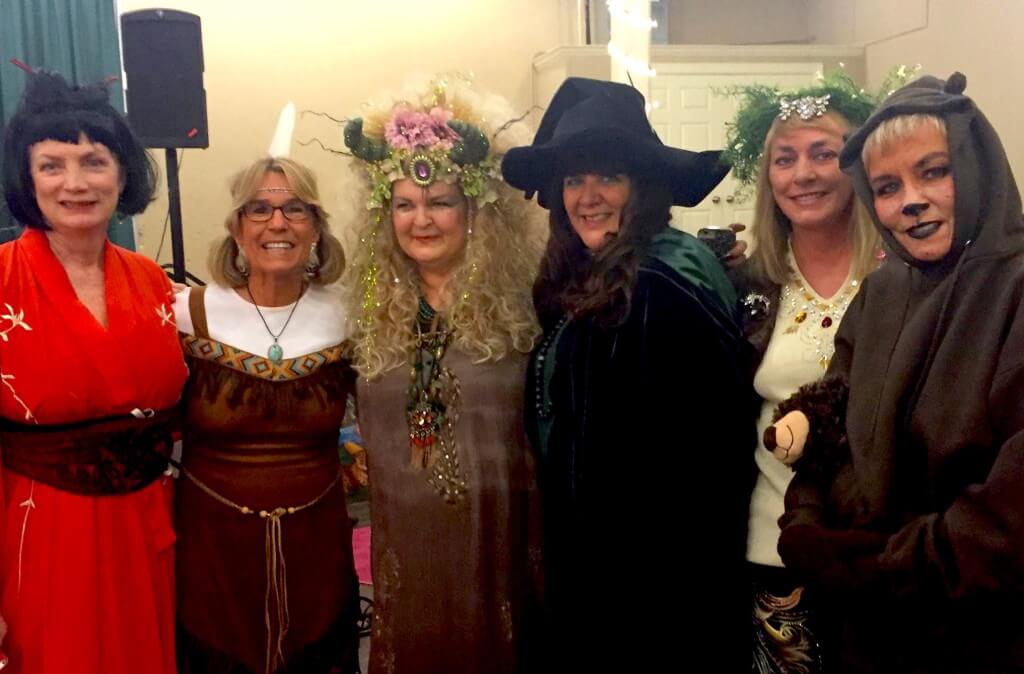 Authors Mary Arno, Pattie Welek Hall, Kathy Murphy (The Pulpwood Queen), Shari Stauch, Kathleen Varn and Brenda McClain at the ball...