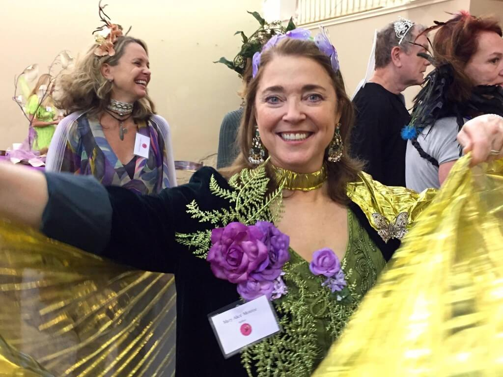 """Author Mary Alice Monroe gets into """"Woodland Faerie"""" character for opening night festivities!"""