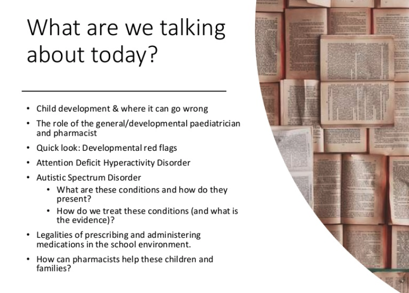 Pharmaceutical Society of Australia (PSA) conference 2019 – lecture