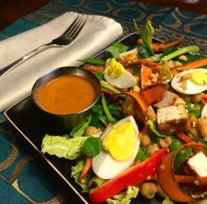 Thai Salad with Peanut Dressing | #pkway