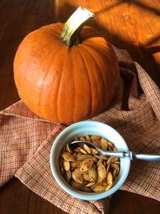 Sugar Pumpkin and Roasted Seeds